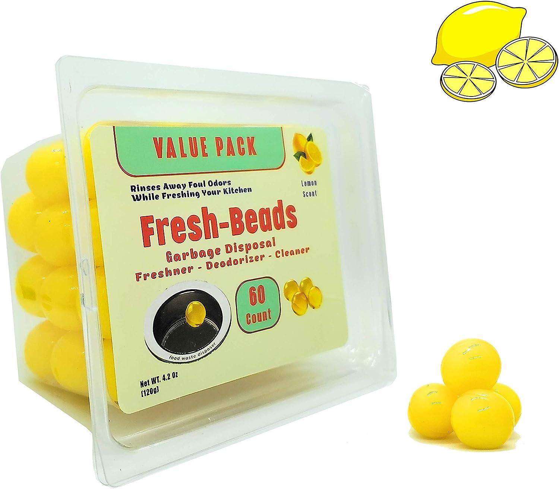 60-Count Sink Garbage Disposal Freshener & Deodorizer Lemon Scent Capsules