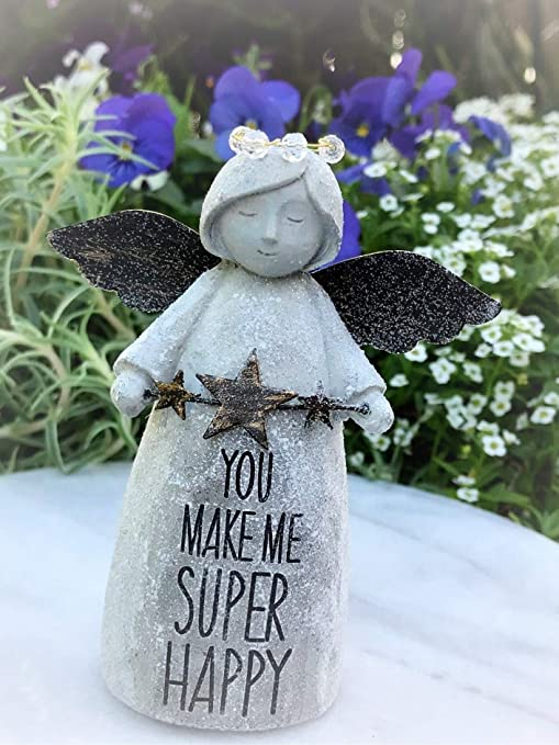 Amazon com : Miniature Figurine Mini Sentiment Angel You Make ME