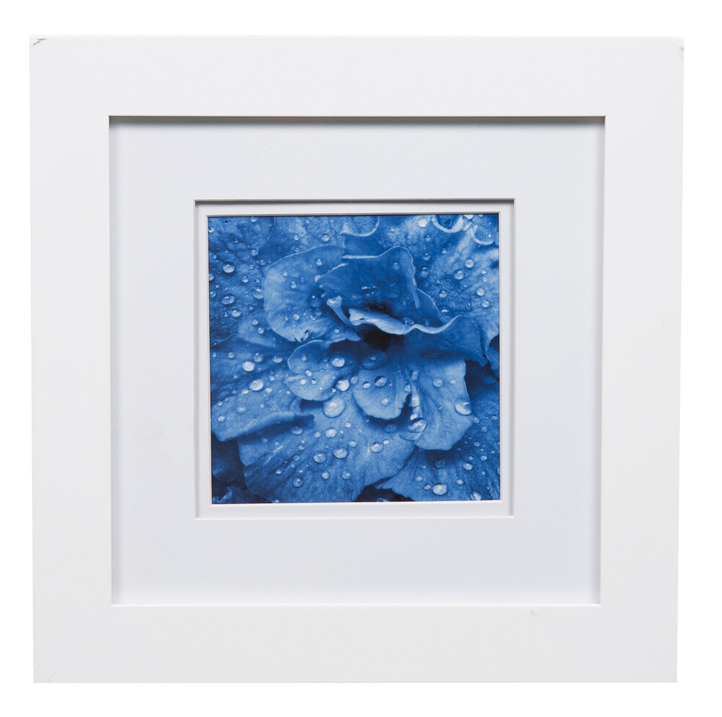 Gallery Solutions Photo 8x8 Flat Tabletop or Wall Frame with Double White Mat for 5x5 Picture, 8'' x 8'', by Gallery Solutions