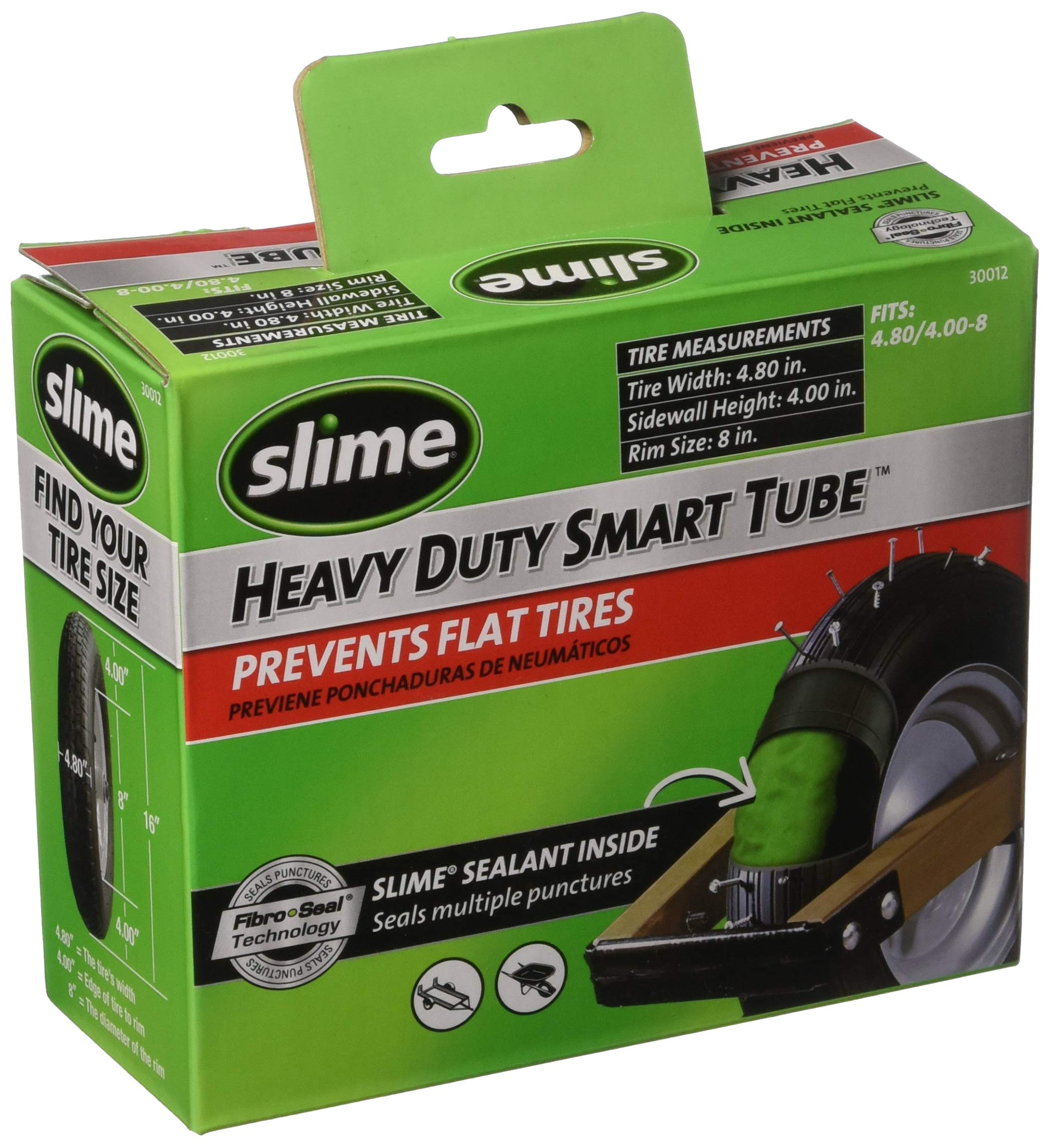 Slime 30012 Smart Tube Wheelbarrow Tube, 8''