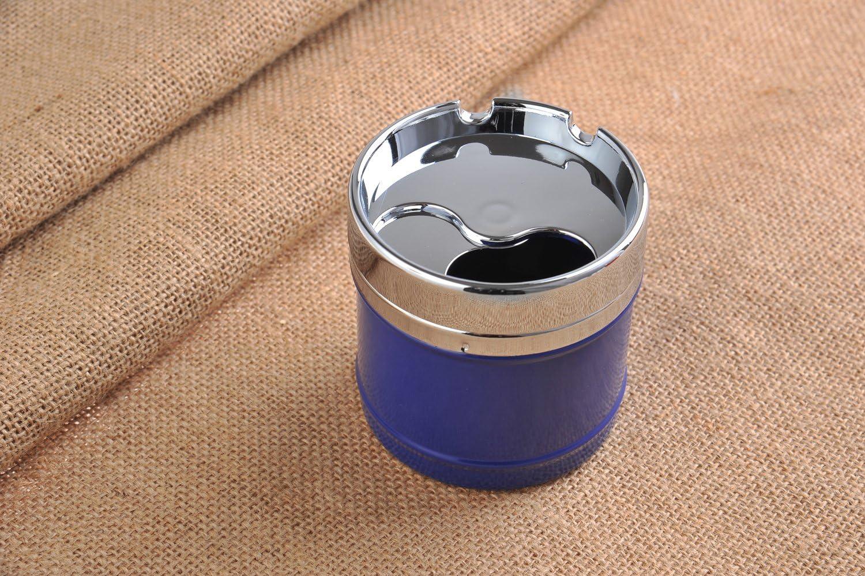 Couleur: Bleu avec Design de Restaurant am/éricain 817-02 Mod The Khan Outdoor /& Lifestyle Company Cendrier /él/égant et Rond DE Fait en Alliage de Zinc
