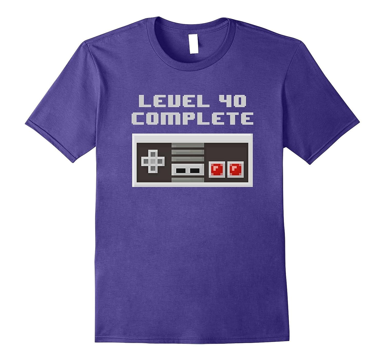 Level 40 Complete retro video games 40th Birthday Fun TShirt-FL