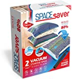 Spacesaver Vacuum Storage Bags. Double-Zip Seal and Triple Seal Turbo-Valve Jumbo 2 Pack