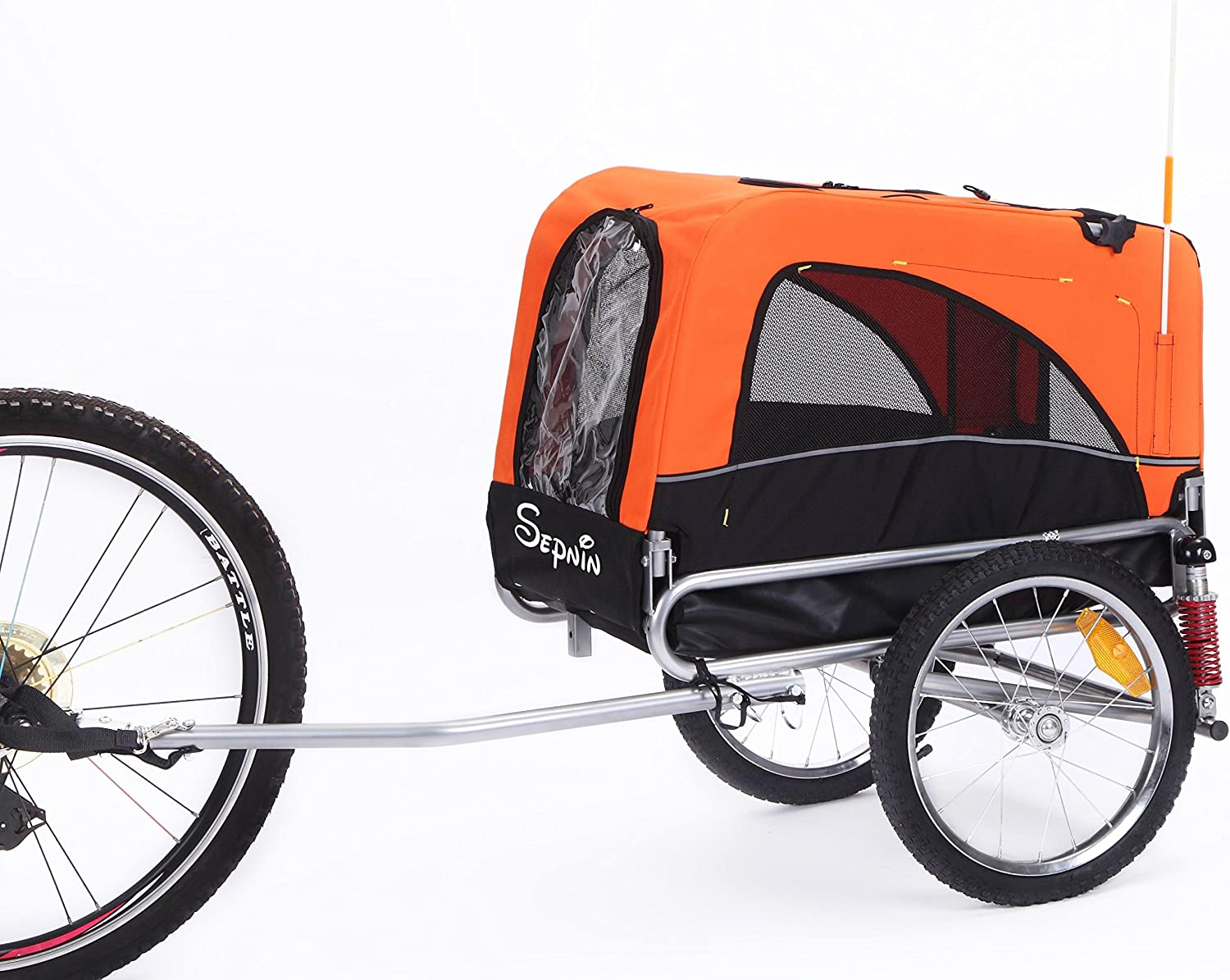 Sepnine 2 in 1 Medium Sized Comfortable Bike Trailer