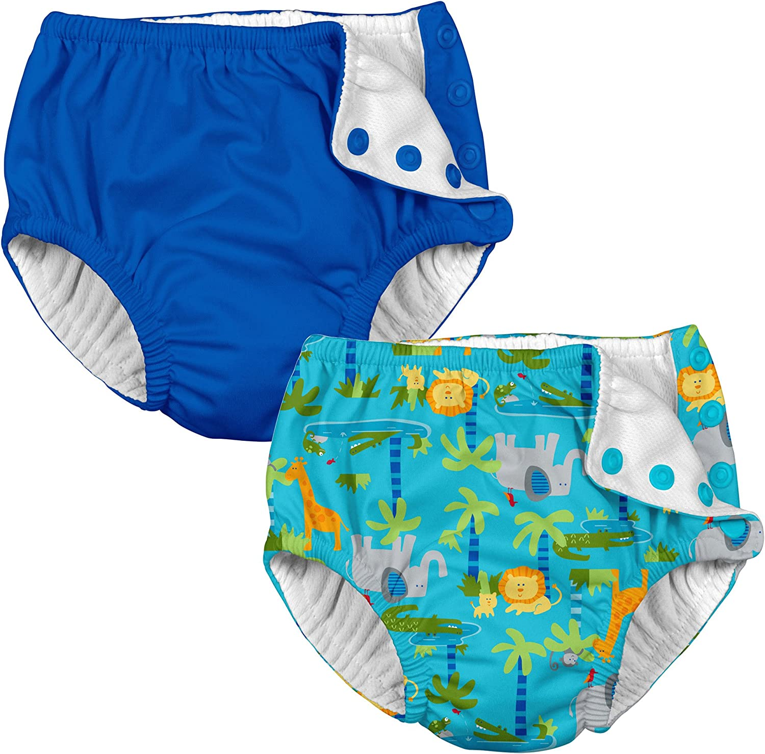 i Play 2 Pack Boys Reusable Baby Swim Diapers Royal Blue and Green Sea Turtle 24 Months