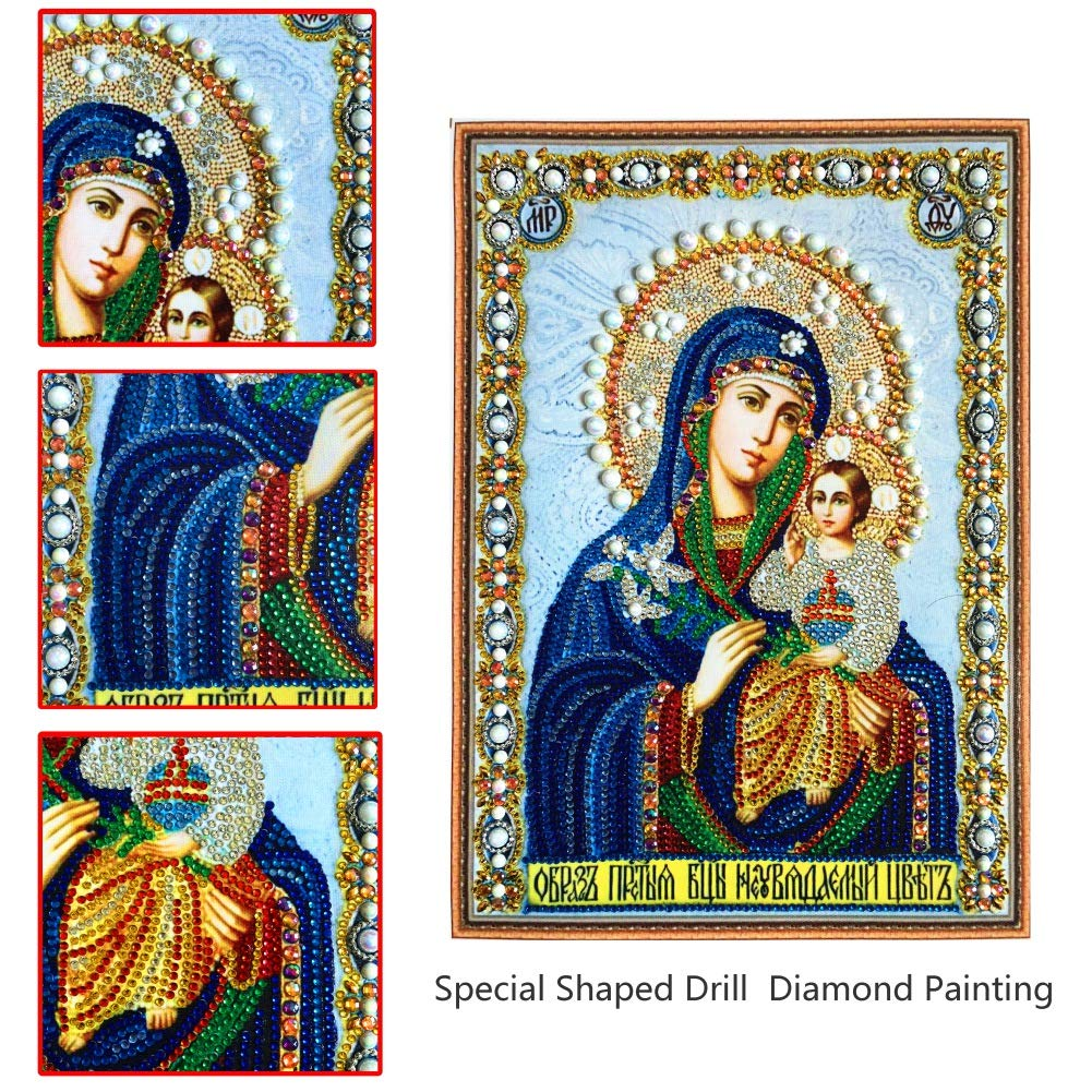 Peyan Fire Dragon 5D Diamond Painting Kits Special Shaped Drill Crystal DIY Wall Sticker 3D Diamond Mosaic Cross Stitch Embroidery 15.7x19.6 inches