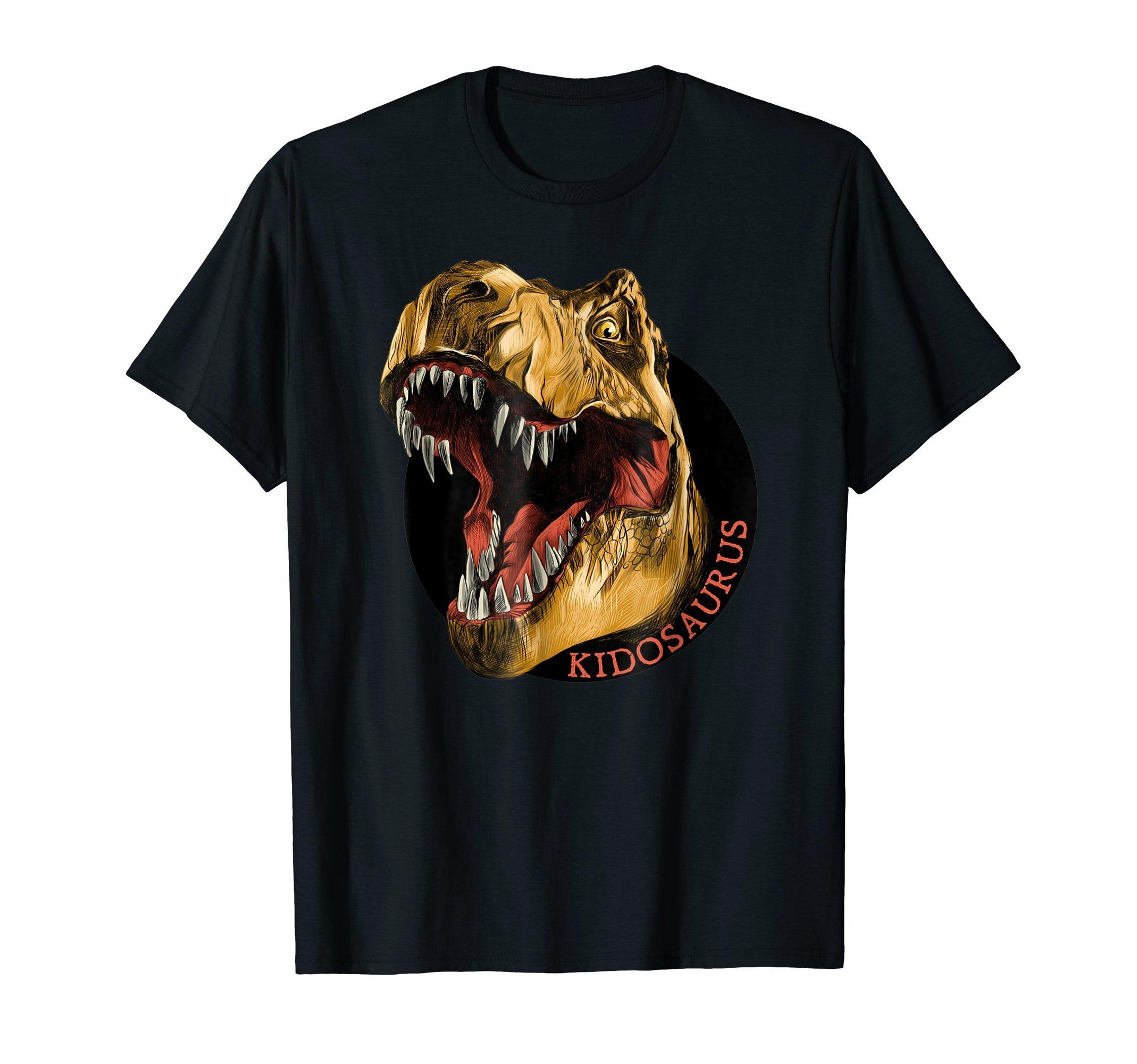 Kidosaurus-Rex-Dinosaur-Happy-Fun-T-Shirt-Tee-Shirt-Gift