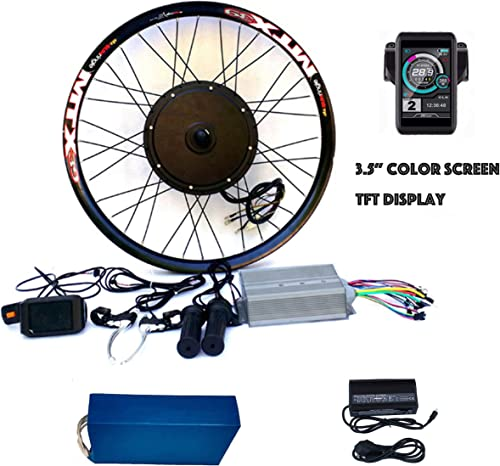 theebikemotor 3.2 TFT LCD 3000W Hi Speed Electric MTB Bicycle E Bike Hub Motor Conversion kit