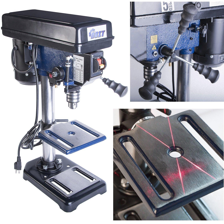 Ainfox 120V 350W 8-Inch 3/5 HP 5 Speed Benchtop Drill Press (8'' Benchtop Drill Press)