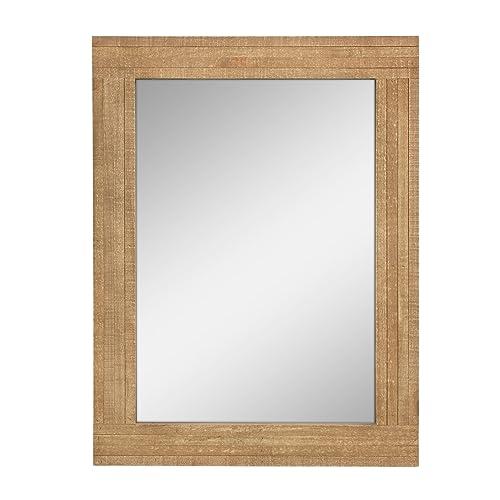 Wood Bathroom Mirror Amazon Com