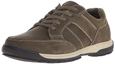 Nunn Bush Layton Medium/Wide Moc Toe Oxford Charcoal Leather A19g4867