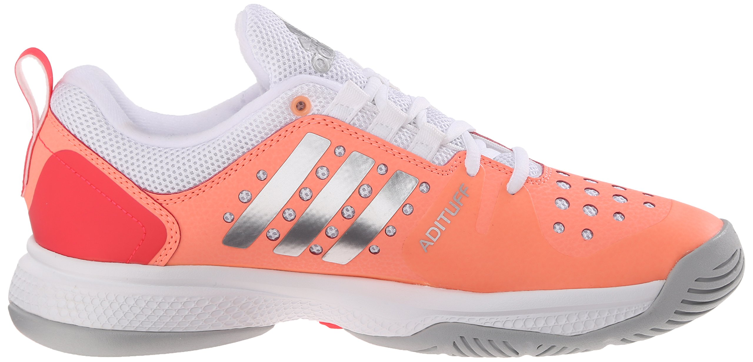 adidas Performance Women's Barricade Classic Bounce W Training Footwear,Sun Glow Yellow/Metallic Silver/Shock Red,9.5 M US by adidas (Image #7)