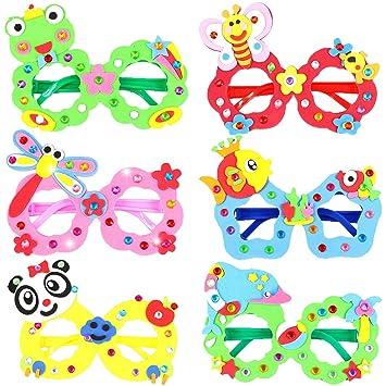 Hifot Kit Manualidades niños DIY Gafas 6 Piezas, Artesanía ...
