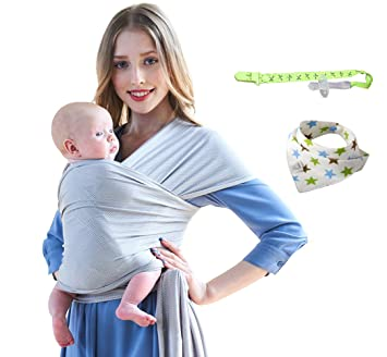 Amazon Com Baby Wrap Carrier Lightweight Stretchy Breathable