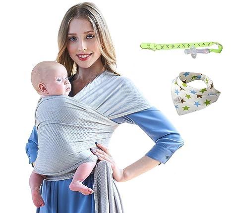 Écharpe de Portage Bébé Sling Été Tissu de maille respirant porte bébé de  haute qualité pour nouveau-nés et bébés jusqu à 20 kg  Amazon.fr  Bébés    ... 6c0794a46c5