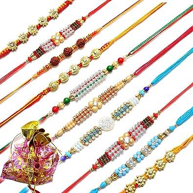 Collectibles Other Hinduism Collectibles Fast Deliver 6 X Rakhi Thread Bracelet Multicolour Bead Raksha Bandhan Rakhi Wrist Band Dora