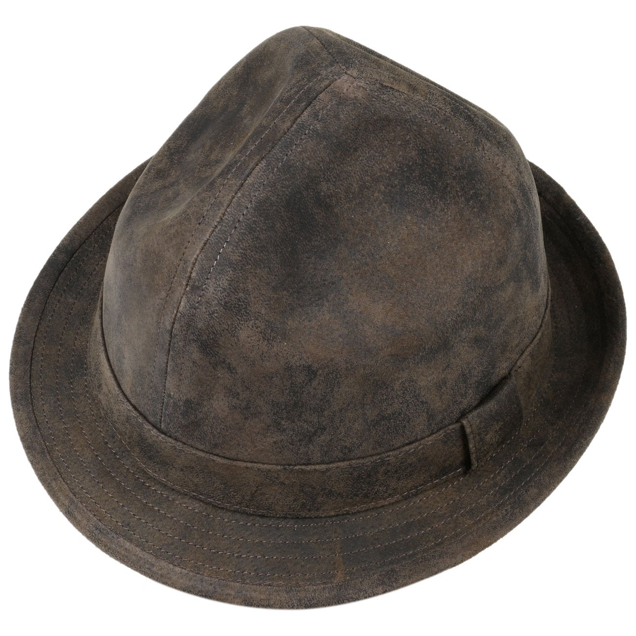 55ba3b3468ce0 Lierys Dreispitz Leather Hat folkloristic  Amazon.co.uk  Clothing
