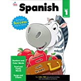 Carson Dellosa Beginning Spanish Workbook—Grade 1 Spanish Learning for Kids, Spanish Vocabulary Builder With Numbers, Colors,