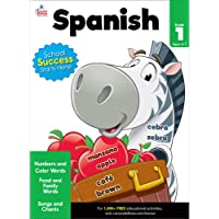 Carson Dellosa Beginning Spanish Workbook—Grade 1 Spanish Learning for Kids, Spanish Vocabulary Builder With Numbers…