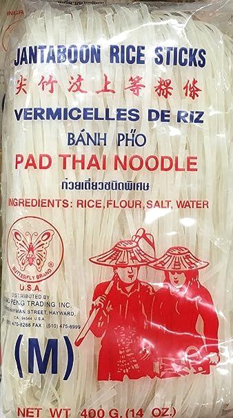 a1d8c57c3eddc7 Amazon.com   14oz Butterfly Brand Jantaboon Rice Sticks Pad Thai ...