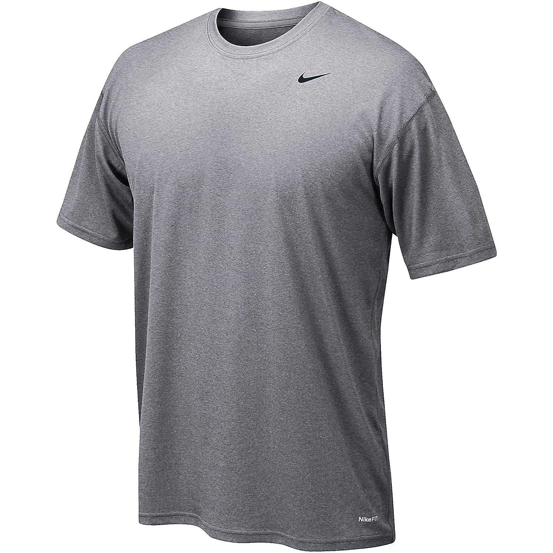 Nike 384407 Legend Dri Fit Short Sleeve Tee – Navy B00A8ZAKZM Medium|グレー グレー Medium
