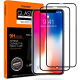 Spigen Tempered Glass Screen Protector Designed for Apple iPhone Xs (2018) / iPhone X (2017) [2 Pack] - Maximum Protection
