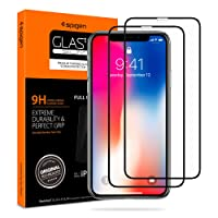 Spigen Tempered Glass iPhone Xs/X Screen Protector [ Maximum Protection ] [ Case Friendly ] for Apple iPhone Xs/iPhone X (5.8 inch) (2 Pack)