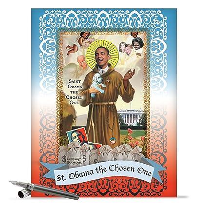 Amazon J0475 Jumbo Funny Birthday Card St Obama With Envelope