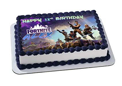 Battle Royale Edible Image Cake Topper Personalized Birthday   Sheet Decoration Custom Sheet Party Birthday Sugar Frosting Transfer Fondant Image Lxxe