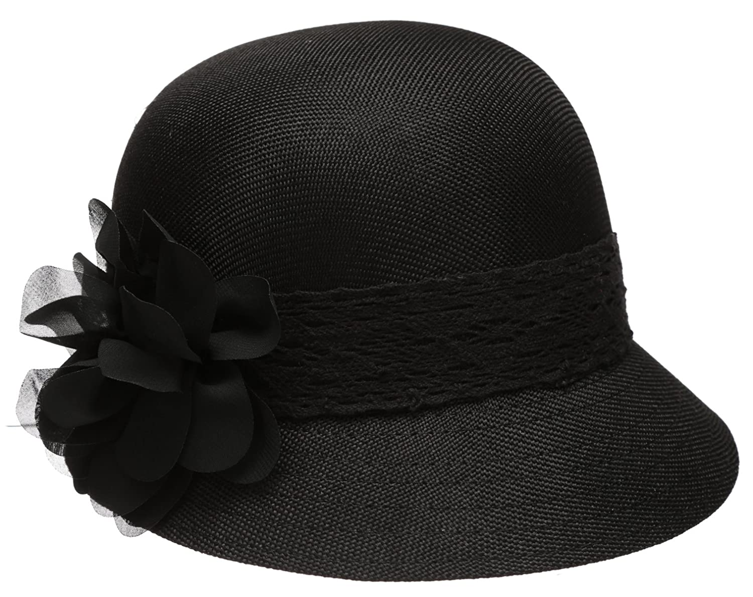 Epoch Women s Gatsby Linen Cloche Hat With Lace Band and Flower - Black at  Amazon Women s Clothing store  35f7d1d2c35