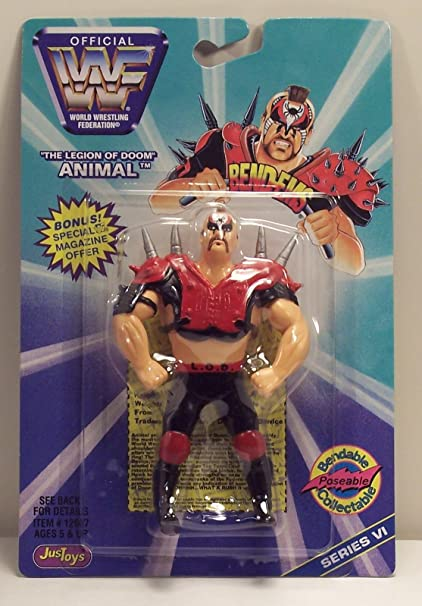 WWE Wrestling WWF Bend-Ems Series 6 Animal Action Figure
