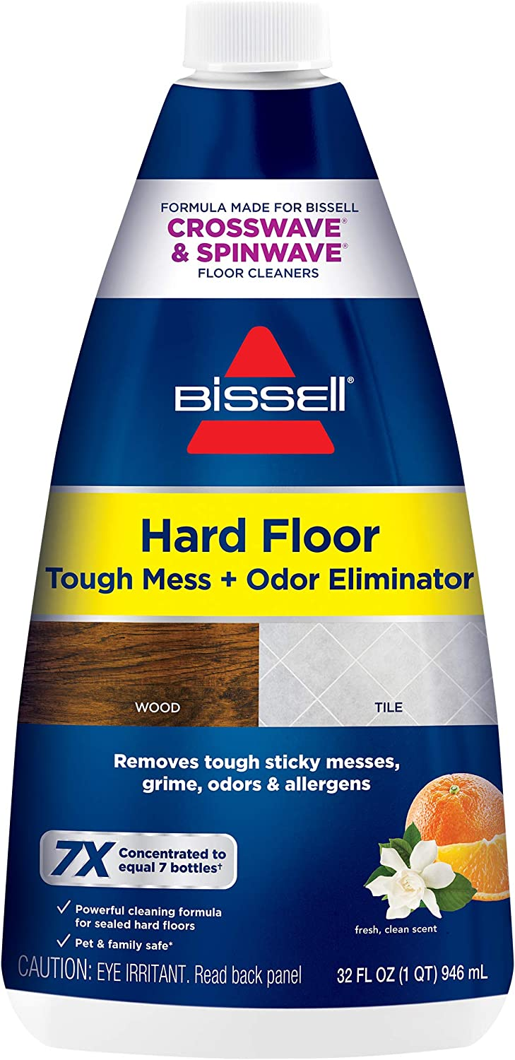 BISSELL (2504) Hard Floor Tough Mess + Odor Eliminator 32 oz Formula