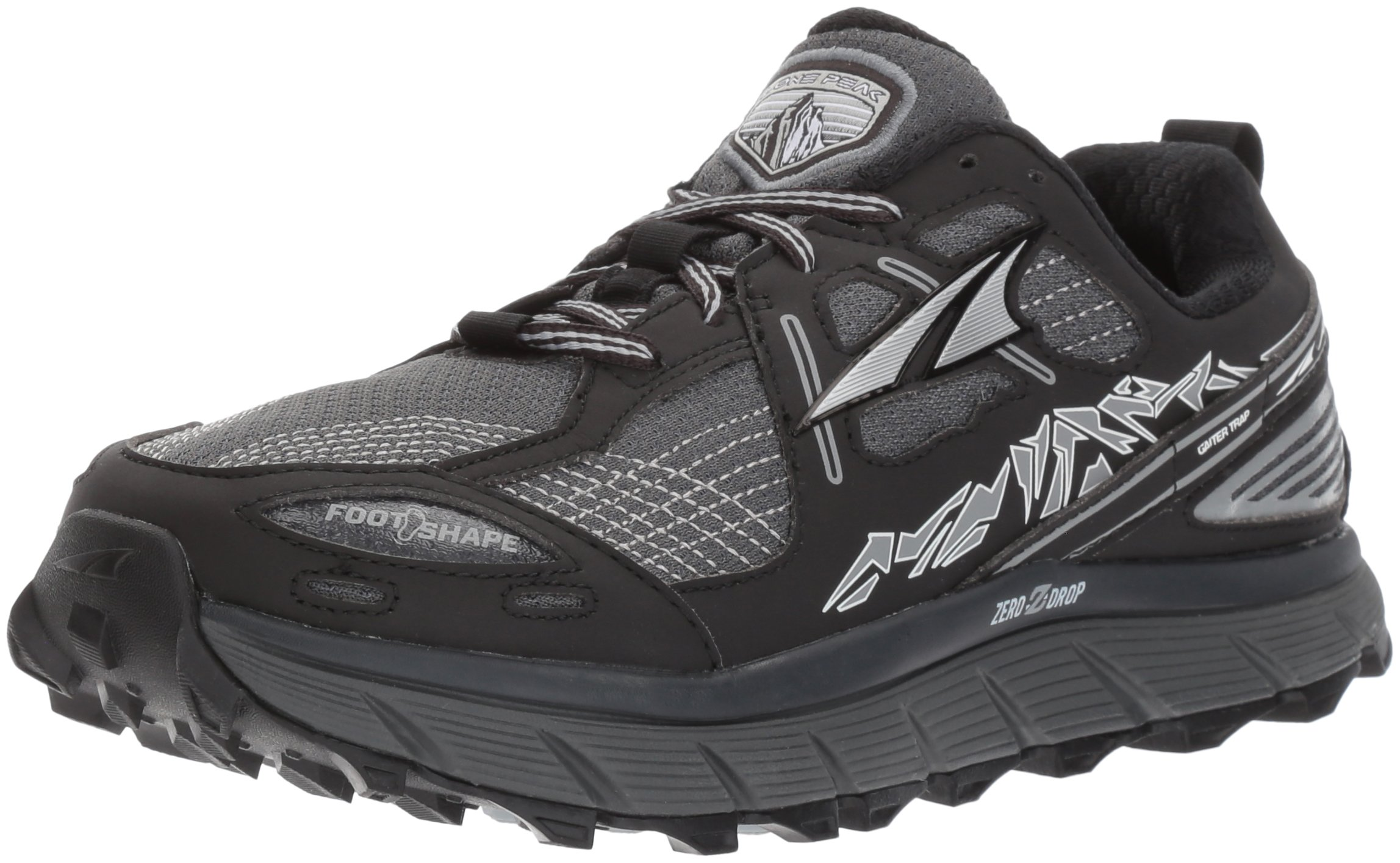 Altra Women's Lone Peak 3.5 Running Shoe, Black, 8.5 B US by Altra (Image #1)