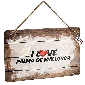 Amazon.com: NEONBLOND Metal Sign I Love Palma de Mallorca ...