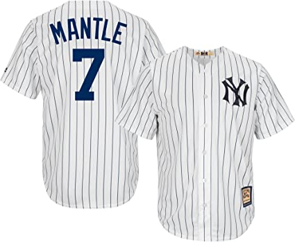 4d069a5b8 closeout mickey mantle new york yankees white youth cool base cooperstown  home replica jersey small 8