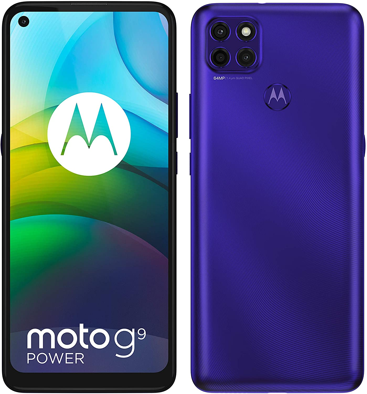 Motorola Moto G9 Power Dual-SIM 128GB ROM + 4GB RAM (GSM Only | No CDMA) Factory Unlocked Android Smartphone (Electric Violet) - International Version