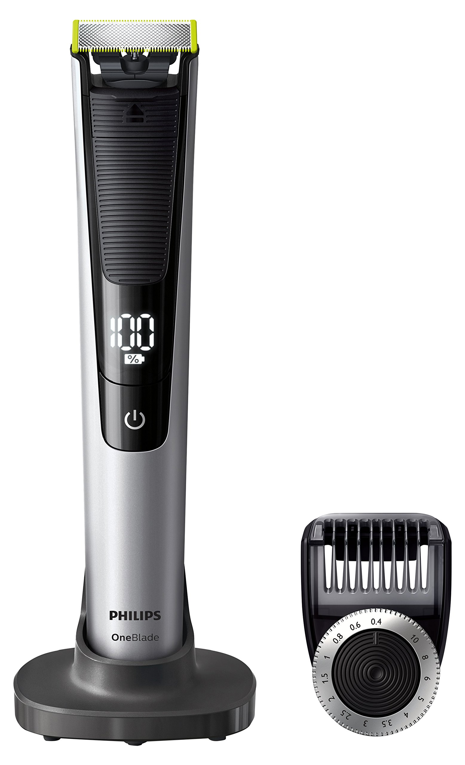 Philips OneBlade Pro Hybrid Trimmer & Shaver with 14-Length Comb (UK 2-Pin Bathroom Plug) - Frustration-Free-Packaging - QP6520/30 product image