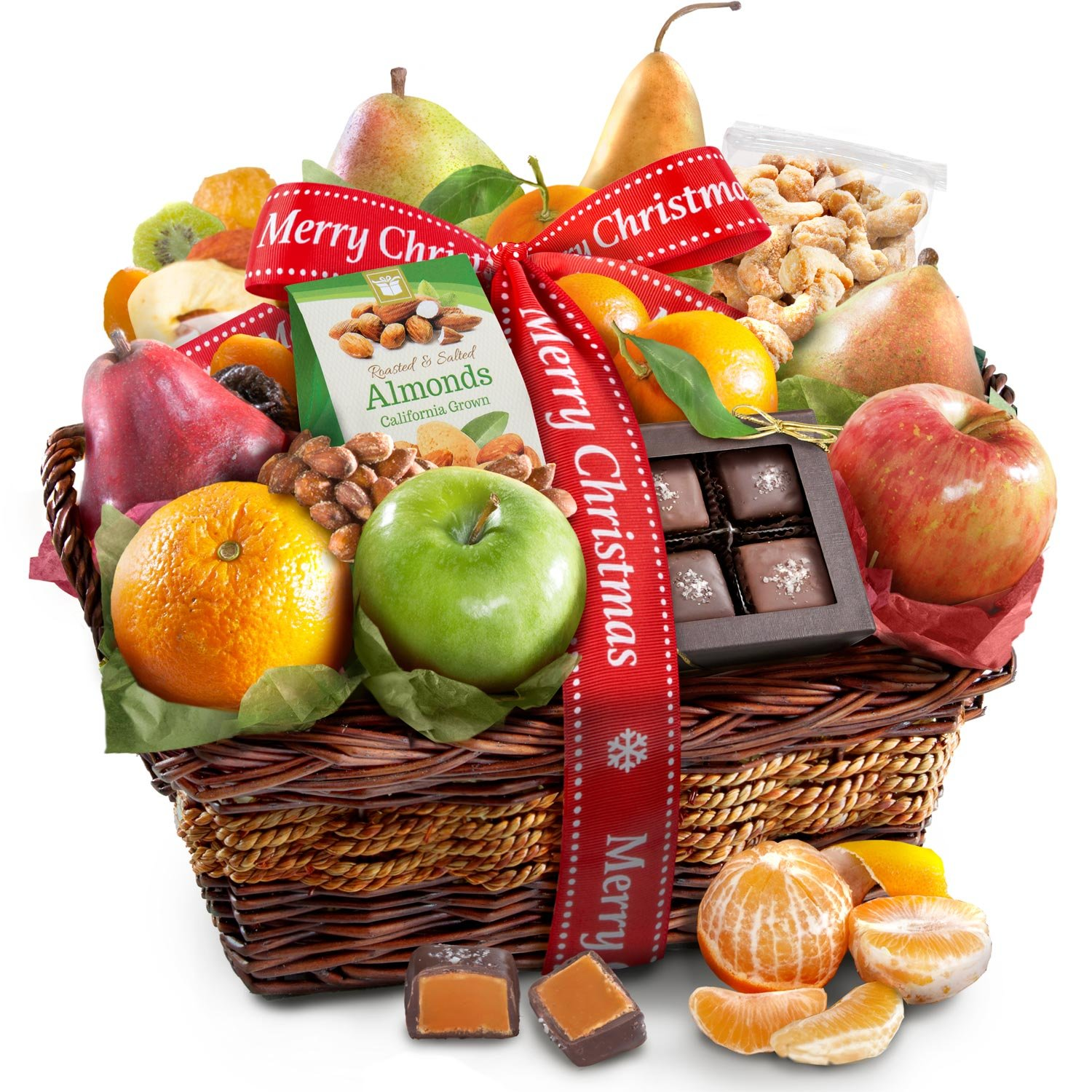 Amazon.com : Golden State Fruit Orchard Favorites Gift Basket, Merry ...
