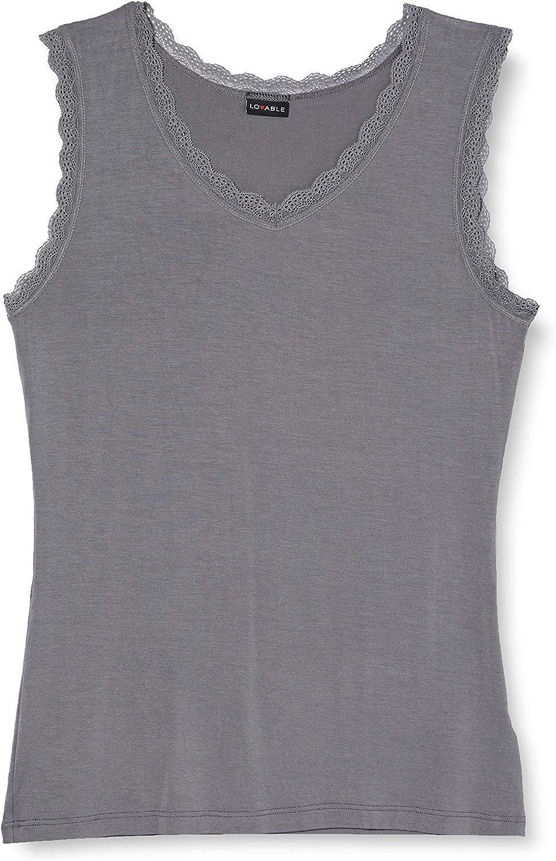 Lovable Viscosa Camiseta de Tirantes para Mujer