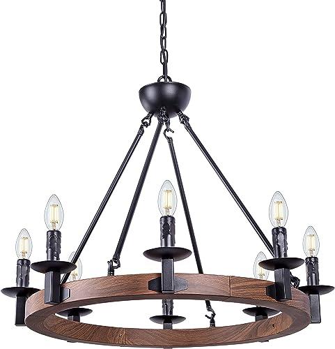 Wellmet 8 Lights Farmhouse Iron Chandeliers