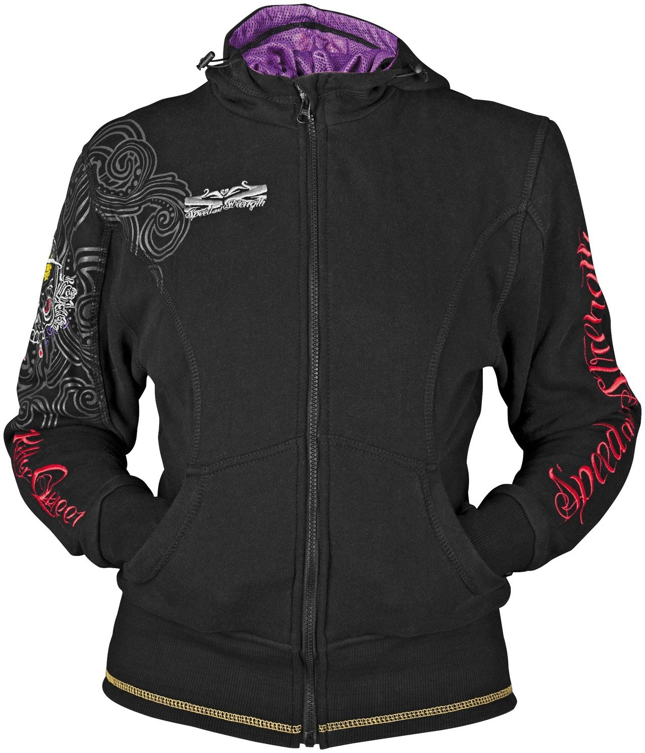 Speed and Strength Killer Queen Women's Hoodie (Black, Small)
