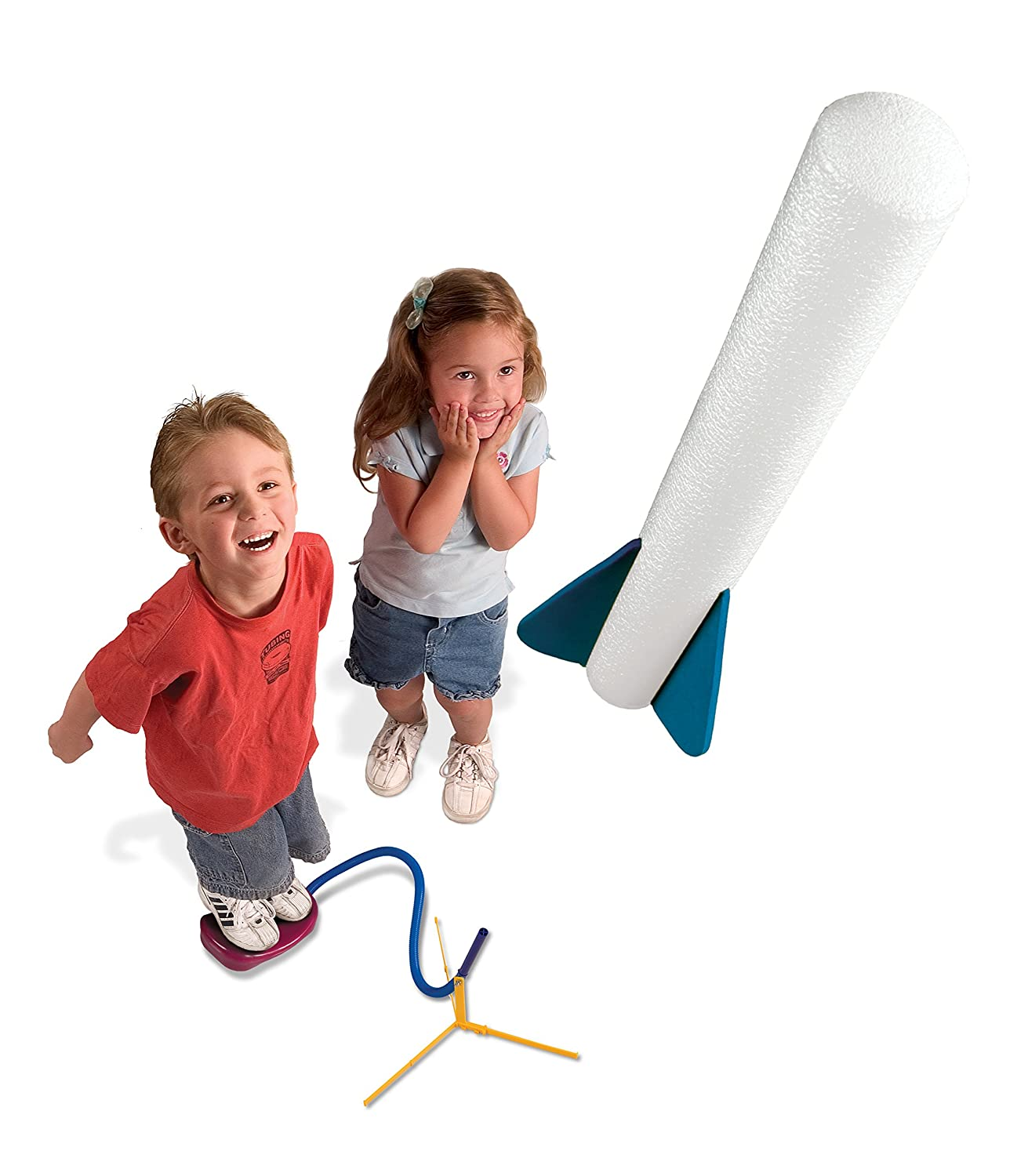 Outdoor Rocket Toy Gift for Boys and Girls Ages 3 Years and Up Glow Rocket 4 Rockets and Toy Rocket Launcher Stomp Rocket Jr