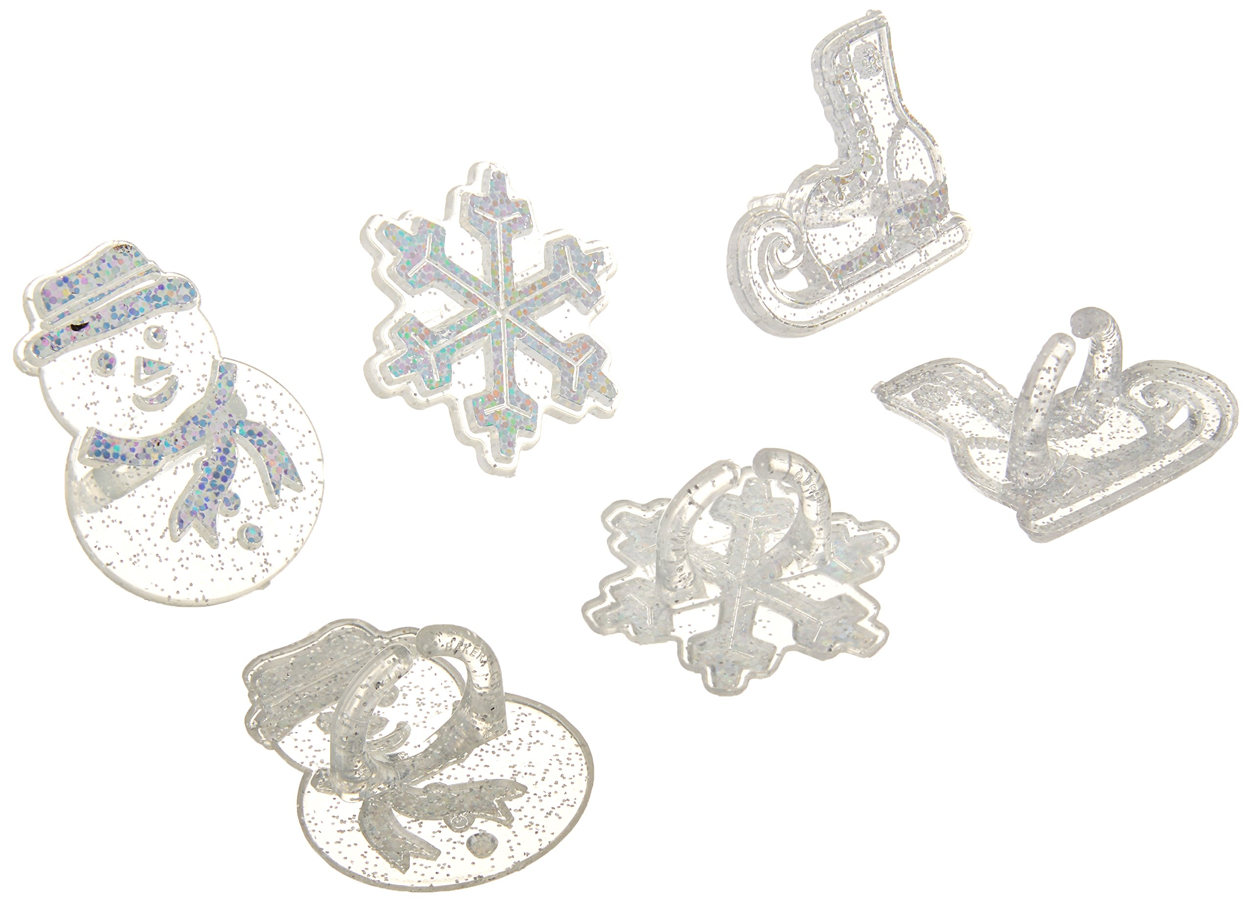 Oasis Supply 24 Piece Frozen Snowflake/Ice Skating and Snowman Cup Cake Rings by Oasis Supply