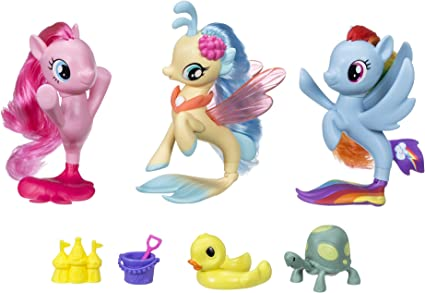Amazon Com My Little Pony The Movie Seapony Collection Set Amazon Exclusive Toys Games