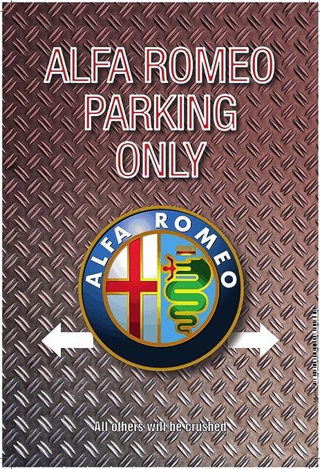 Blechschild 30 X 20 cm Alfa Romeo Parking Only