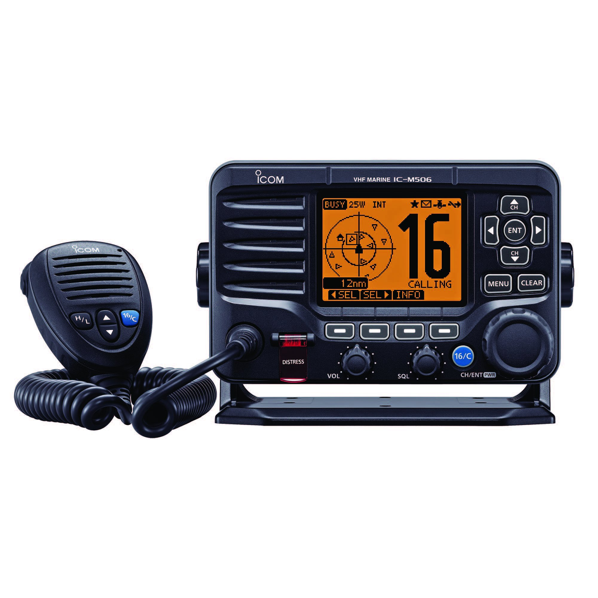 ICOM IC-M506 21 Fixed Mount VHF with Hailer, N2K, Front Mic and AIS by Icom