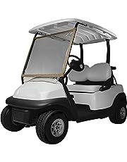 Classic Accessories Fairway Parabrisas portátil de Lujo para Carro de Golf, Arena/Transparente