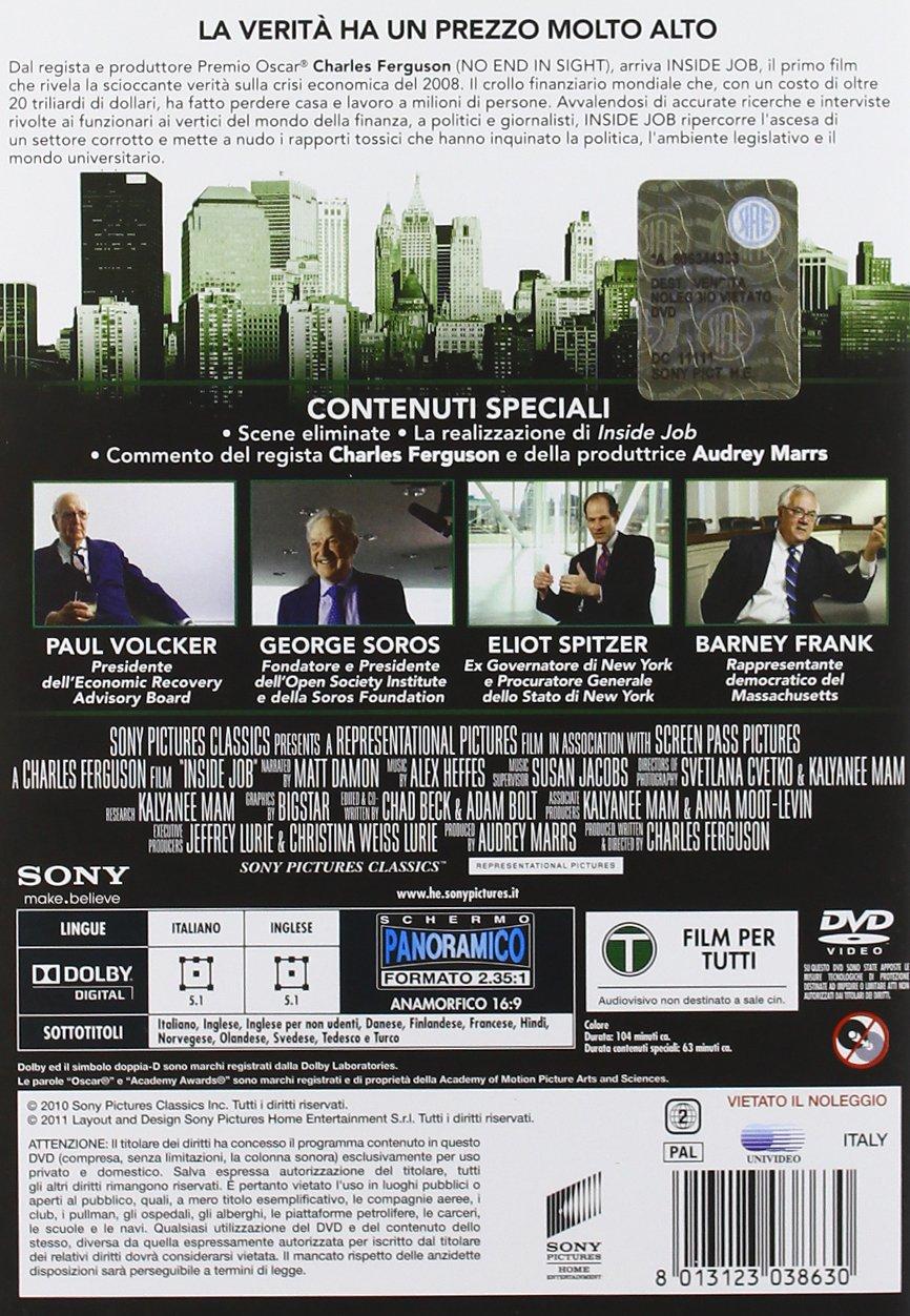 Wall street il denaro non dorme mai amazon it michael douglas - Inside Job Amazon It Matt Damon Chad Beck Adam Bolt Charles Ferguson Film E Tv