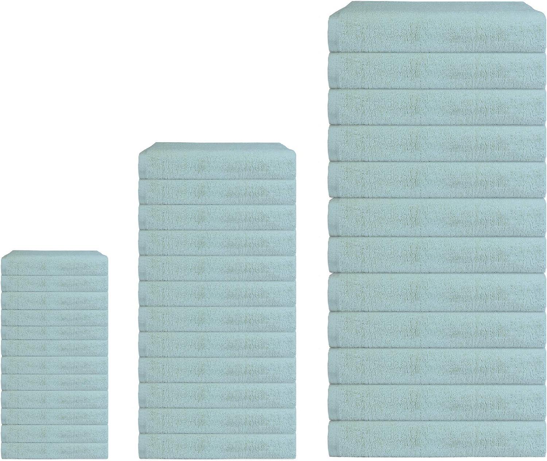 12 Asciugamani 60 x 100 cm Bordeaux Banzaii Set di Asciugamani Maxi Misure
