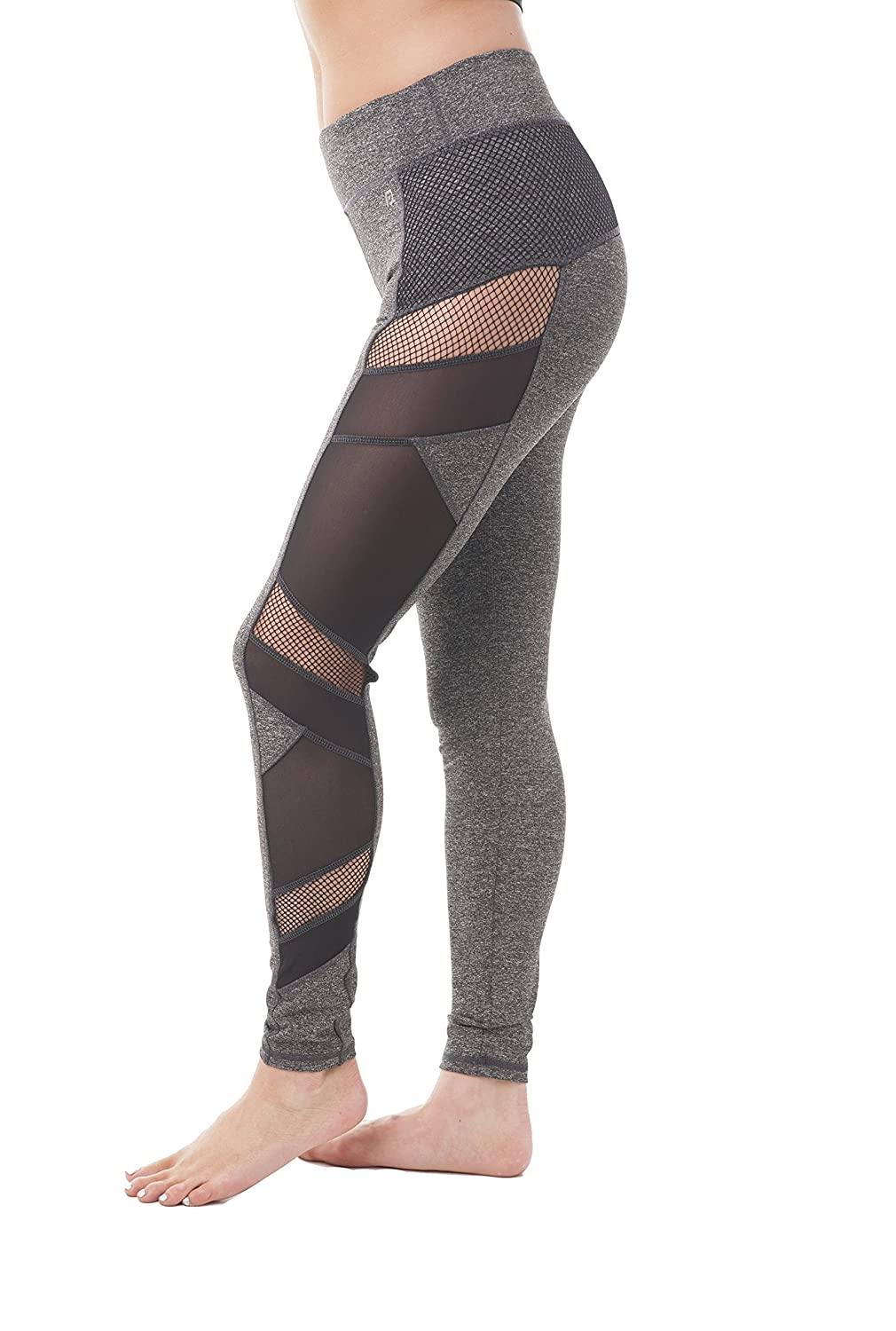 Hollywood Star Fashion Fish Net Mesh Side Active Wear Leggings PC5664
